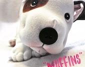 Stuffed Animal Pitbull - Plush Dog - Cute Stuffed Dog - Stuffed Animal Dog - Bully Breed - Brown and White Pittie