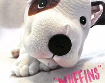 Stuffed Animal Pitbull - Plush Dog - Staffie - Bulldog - Pittie - Bully Breed - Dog Lover Gift - Mutt Stuff