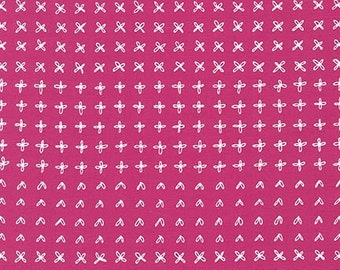 Blueberry Park fabric, Pink fabric, Karen Lewis Textiles, Best Seller, Quilting, Flowerbed in Valentine, Choose your cut