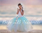 Beach Wedding Dress Flowe...