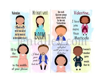 Hamilton Broadway Printable Digital Download Valentine Hamiltine Cards