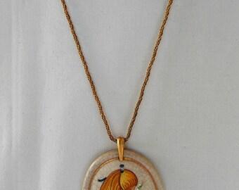 Vintage Veneto Flair Lorraine Trester Large Pendant Necklace