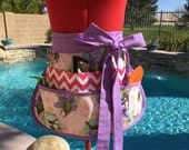 Lillac Vendor Apron, Easter Half Apron with 6 pockets, Great for Vendors, Utility, Sewing, Crafts, Arts, Teacher's Gifts