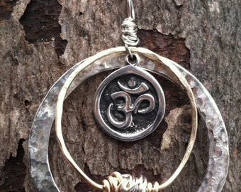 Organic Sterling Ohm Necklace