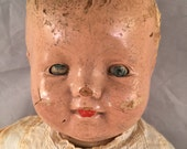 Vintage Composition Baby Doll with Sleepy Eyes