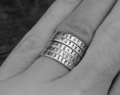 Personalized Stacking Ring - Stamped Stack Ring Silver Custom Stackable Mother's Ring