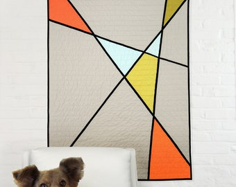Modern Quilt - Mid Century Modern  Salad Bar Stained Glass