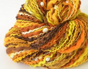 Handspun Yarn -  Merino Yarn - Freshwater Pearls - 2.5oz, 140yd, 14WPI