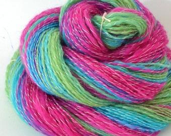 Handspun Yarn -  Spindle Spun Merino Yarn - Art Yarn- 1.1 oz, 232yd, 19WPI