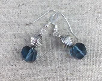 Blue Quartz & Sterling Silver Earrings