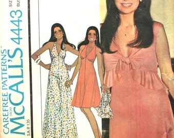 UNCUT Halter Dress with Back Zipper and Matching Ruffled Jacket Bust 38 Size 16