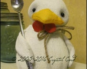 Whimsical white Chicken doll primitive animal farm kitchen Doll creepy cute country decor Farm HaFair