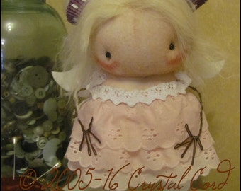 Angel food Cupcake fairy girl strawberry pink Doll pink low brow Whimsical kitchen primitive creepy cute country decor Farm hafair ofg team