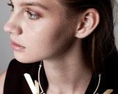 SALE 50% OFF Michaella Necklace, Gold Statement Necklace, Geometric Statement Necklace, Gold Collar Necklace, Gold Bib Necklace