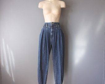 vintage 80s 90s Lee Jeans / high waist pleated jeans / loose fit mom jeans / sz 11