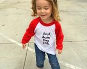 Just Doin' My Job Toddler Baseball Tee Shirt