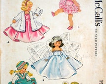 1950s Vintage Doll Clothes Pattern McCall's 1965 7 to 8 Inch Doll Clothing Pattern Genuine Vintage Pattern