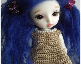 Blue tibetan mohair wig for lati yellow/pukifee/tiny delf