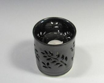 Ceramic Candle holder, Pillar Candle Holder - Luminary - Luminaria - Lantern - Bud Vase - Mommy Pot - Pencil Holder - Mantelpiece Decoration