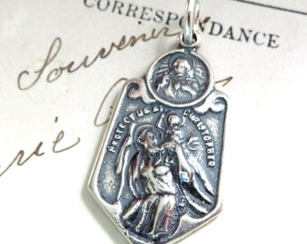 St Christopher Scapular Medal - Patron of Travelers, Lifeguards and Against Storms