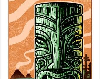 Magma Tiki- Large Print
