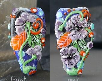 Handmade lampwork bead focal     Before The Storm     free-formed     SRA     artisan glass    Silke Buechler
