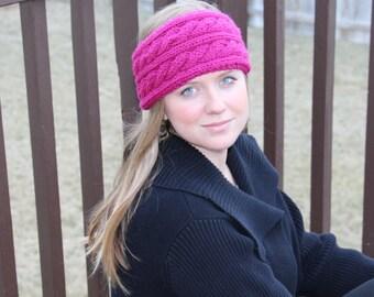 Cabled Ear Warmer Headband Knitting Pattern