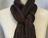 brown aurora:  handwoven scarf