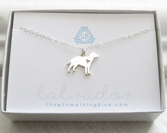 Labrador Retriever Necklace • Labrador Silhouette Necklace •  Lab Lover • Man's Best Friend Necklace • Pet Owner Gift • Best Friend Gift