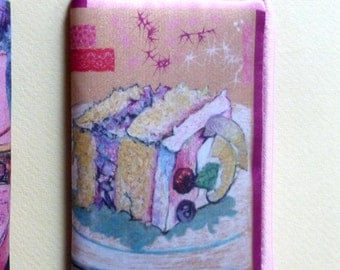 Cake (Pink Zipper Pouch with Wrist Strap - Smart Phone Case - Coin Purse - Card Purse - Digital Camera Bag)