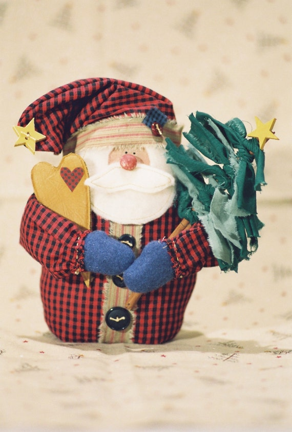Mailed Cloth Doll Pattern - Small Christmas Santa Doll