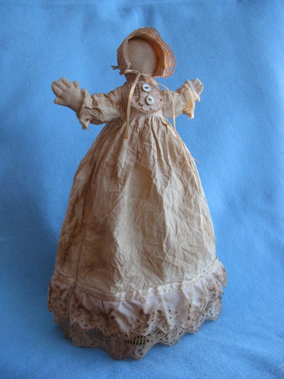 Mailed Cloth Doll Pattern 14 in Primitive Prairie Doll