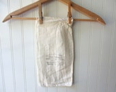 Vintage 5 pound feedsack flour sack sugar sack with applied antique French candy store graphic French Farmhouse cottage