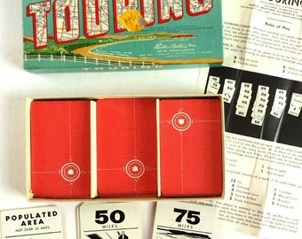 Vintage Parkers Brothers Touring Game 1950s