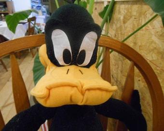 "Vintage Daffy Duck Plush Doll 21.5"" Looney Tunes"
