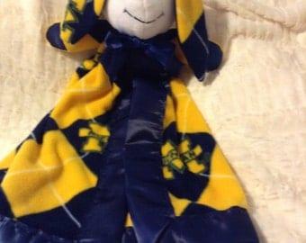 Michigan Bunny Blanket Lovey