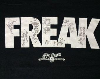 90's signed t-shirt FREAK Jim Rose Sideshow Circus - autographed macabre horror collector piece