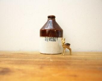 vintage 30s Stoneware Liquid Mercury Bottle // Retro Curiosity
