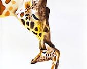 Giraffe With Baby #7 Art ...
