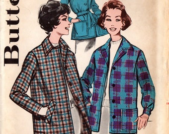 1960s Butterick 9549 UNCUT Vintage Sewing Pattern Misses Casual Jacket Size 14 Bust 34