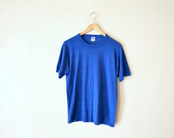 80's Paper-Thin Blue Tshirt