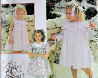 Simplicity 9465 Sewing Pattern, Toddlers' Dress and Coat, Size 1/2-1-2, Uncut FF, Special Occasion, Rare Editions