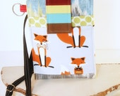 Cell Phone Sleeve, FIT ANY Size/Brand Phone, Cell Phone Purse, iphone Purse with Strap5,6 accessories,samsung galaxy 3,4,5,6 - Little Fox