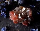 Quartz Cluster - Hematite Included Quartz - Red and Black Quartz from Orange River South Africa - Hematite Phantom Quartz Cluster