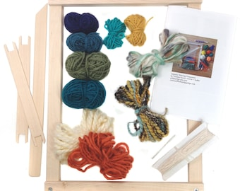 Tapestry Weaving Loom Kit | Gifts for Knitters | Beginner Tapestry DIY Frame Loom | Learn to Weave Woven Wall Hanging | Tapestry Tools