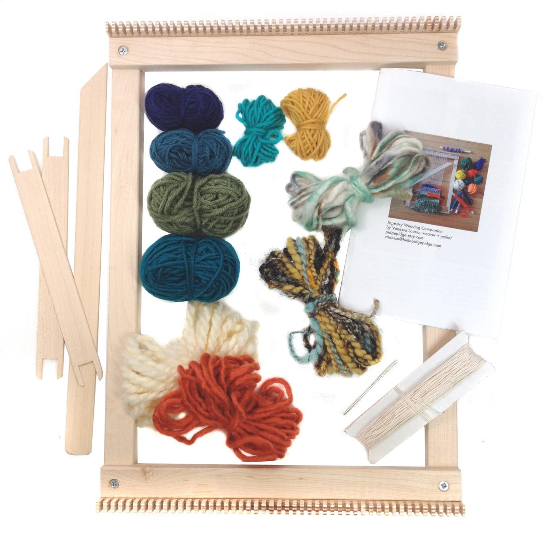 Basket weaving kits beginner uk : Tapestry weaving loom kit gifts for knitters beginner