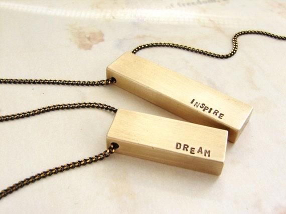 Bar Necklace, Initial Custom Necklace, Bar Name Necklace, Rustic Bar Necklace Name necklace, gift for her, Inspire, Monogram Bar Necklace