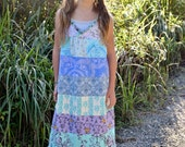 Girls maxi dress, girls long dress, little girls maxi dress, bohemian dress, Vintage dress, Spring, Summer, Easter dress, Valentines day