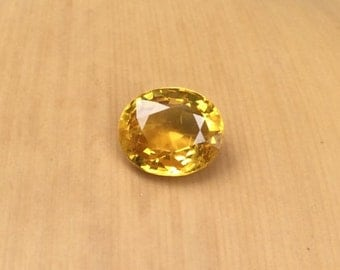 Sunny Yellow Sapphire - Natural Oval cut Loose Sapphire Gemstone for Your Engagement Ring - LSG364