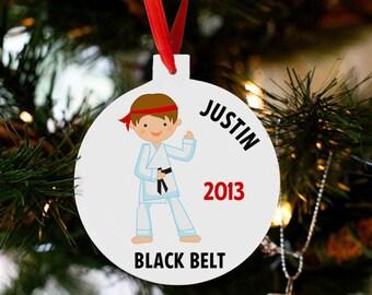 Martial arts ornament - gift for martial arts masters - kids martial arts karate Christmas ornament MACO